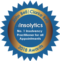 John Bell No. 1 insolvency practitioner for all appointments