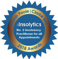 Toyah Poole No. 2 Insolvency Practitioner for all appointments